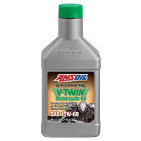 AMSOIL 15W-60 Synthetic V-Twin Motorcycle Oil 1x QUART (946ml)